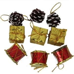 Toptan Noel Çam Ağacı Süsleri 9 Adet