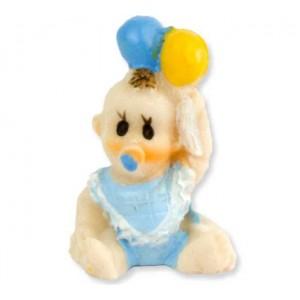 Toptan Önlüklü Ve Balonlu Bebek Biblo Şeker Malzemesi