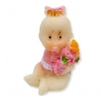 Toptan Orta Boy Çiçekli Bebek Şekeri Malzemesi Bebek Biblo