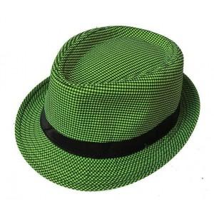 Toptan Piti Kareli Renkli Kumaş Fötr Erkek Şapkası