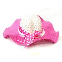 Toptan Puantiye Kurdelalı Yazlık Bayan Şapka