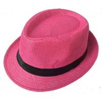 Toptan Renkli Hasır Fötr Şapka 12 renk