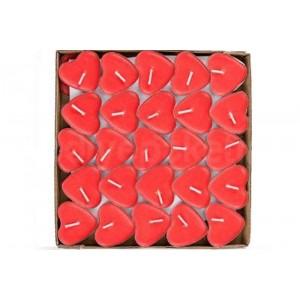 Toptan Renkli Kalp Mum 50 adet
