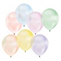 Toptan Renkli Şeffaf Balon 100 adet