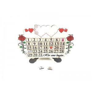 Toptan Sevgililer Günü Hediyesi Ahşap Sevgili Takvimi