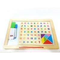 Toptan Silgi ve Kalemli Yazı Tahtası Alfabe ve Rakamlı Puzzle