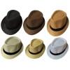 Toptan Siyah Kemerli Yazlık Hasır Erkek Fötr Şapka