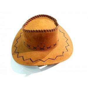 Toptan Ucuz İpli Süet Kovboy Şapkası Küçük Boy