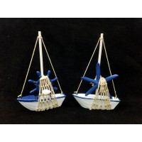 Toptan Ucuz Marin Hediyelik Yelkenli Gemi Biblo