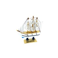 Toptan Yelkenli Ahşap Gemi 12 cm