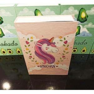 Unicorn Kitap Şeklinde Hediye Kutusu